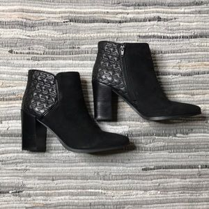 Nine West Black Zip Heeled Boots